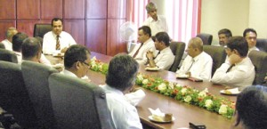 It was looking-forward time at the Sri Lanka Medical Association (SLMA) when its current President Prof. Vajira H.W. Dissanayake along with President-elect Dr. B.J.C. Perera and their team met for an in-depth discussion on the calendar of events for next year, at the SLMA at Wijerama Mawatha, Colombo 7.
