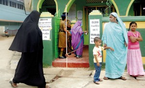 Brisk voting turnout was reported from Batticaloa.  Pic by Luxman Adhiran