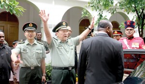 Chinese Defence Minister Liang Guanglie at Defence Services Command and Staff College