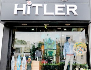 Rajesh Shah, co-owner of the Hitler clothing store in Ahmedabad says the shop name will be changed soon (AFP)