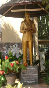 The Statue of the Founder Rev. Robert Newstead