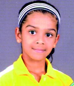 Girls Under 8 Singles Champion Sewmini Thathsarini