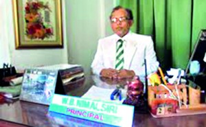 The Present Principal  Mr. NimalsiriWanigabaduge
