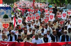Peaceful protests in Pakistan against anti-Islam film