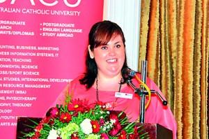 Liz Hern, Associate Director International of ACU