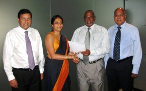 In the photo from left are Imtiaz Esufally (Chairman- Hemas transportation), Kasturi Wilson (Managing Director - Hemas Transportation), Andy Andersen (Managing Director - Scanwell Logistics) and Niranjan Nallaratnam (Managing Director - Forward Air Logistics).