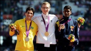 Pradeep  made every Sri Lankan proud by winning a bronze Medal in the 400 metre event in Paralympics 2012