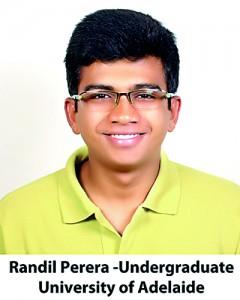 Randil Perera -Undergraduate ,University of Adelaide