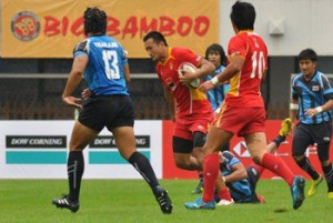 Hosts China in action against Thailand at the Asian Sevens-ShanghaiChina went on to win 33-6