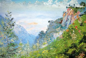 A rare find at an auction in Newcastle, England: Sofronoff's painting of the Ella Gap