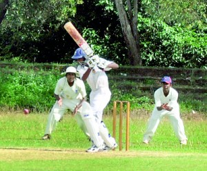 This school's division match between Maris Stella Negombo and Holy Cross began on Thursday in contrary to the SLC-SLCA understanding that all schools matched should be played during the weekend.                                                                     - Pic by Amila Gamage