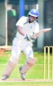 S. Thomas' top-order batsman Devin Jayasinghe flicks during his brief knock against Thurstan at Mt. Lavinia.