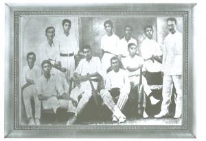 Wesley Cricket team 1908 Standing: S.Gunasekera, D.M.Rupasinghe, E.A.Gunasekera, E de Silva, U.Gunaratne,Rev.H.Highfield Seated: W.D.Lewis, S.Nagendra, F.W.Dias O.C.Amarh, R.F.S.Mendis