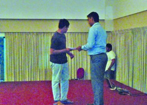 Mr. Shakir Tharick – Project Manager of IBS Campus, Dehiwala presenting certificates for students