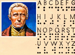 Louis Braille and the system he developed.