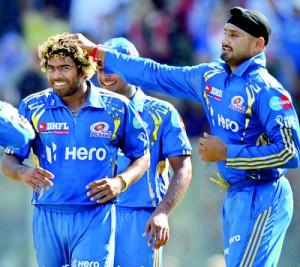 Teammates congratulate Mumbai Indians bo
