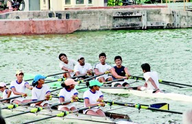 Rowing doubles for Musaeus and Asian International