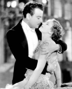 The romantic lead, Nils Asther, with Greta Garbo