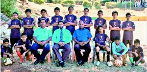 U/15 boys Champions – Standing from left – M. Ifan, M. Afkan, M N M Zahir, M A M Ijas, R.M. Rifkan, R.S.M. Hakeem. H. M. Safar, M. Dilshard Hussain, M. A. M. Sameen Front from left: M.N.M. Saharan, M.S.M. Sajid (seated), S A C M Jibreel (POG), J.M. Iqbal (Principal), A.H.M. Hanafi (MIC/Coach), M.R.M. Shibly (Captain), M.S.M. Fayas, R. Abdul Rahman
