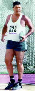 Ranjith the champion discus thrower in the 60s