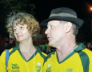 The Australian fans: Sally and Darrel Cowlding