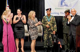 Soldier Rohan and dog Spartacus win international award