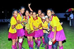 The victorious Pushpadana team