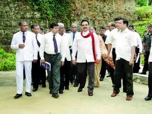 President�Mahinda Rajapaksa?s visit to the school�