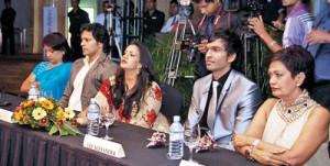 The judges: Nayana Karunaratne, Roshan Ranawana, Sangeetha Weeraratne, Lee Alexander and Ramani Fernando. Pix by Kitsiri De Mel