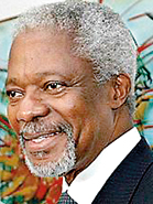 Kofi Annan (Ghana), 1997 – 2006:  A lifelong UN, bureaucrat, Annan started working for the U.N. while studying in Geneva in 1962. He was Under-Secretary General under Boutros Boutros-Ghali when he got the big gig in 1997, becoming the first black UN Secretary General. Annan and the United Nations were the co-recipients of the 2001 Nobel Peace Prize for his founding of the Global AIDS and Health Fund to support developing countries in their struggle to care for their people.
