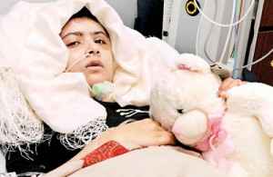 Pakistani schoolgirl Malala Yousafzai is is receiving treatment at the the Queen Elizabeth Hospital in Birmingham