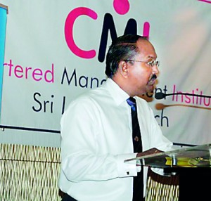 Trevor Mendis (FCMI) making his presentation to the audience