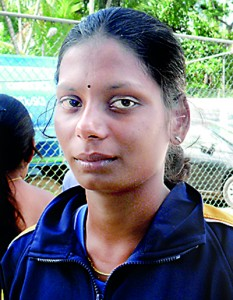 Thanuja, the current record holder for the Pole Vault event for Girls' Under-21 and winner of seven gold medals at the All Islands Athletic Championships in a career that spanned for five years.