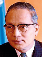 """Thant  (Myanmar), 1961–1971:      This Burmese diplomat served as the third Secretary-General of the United Nations. He is remembered for his work in helping  John F. Kennedy and Nikita Kruschev negotiate during the Cuban Missile Crisis, thereby narrowly averting the possibility of a major global catastrophe. """"U"""" is an honorific in Burmese, roughly equal to """"Mr"""". """"Thant"""" was his only name. In Burmese he was known as Pantanaw U Thant, in reference to his home town of Pantanaw."""