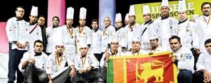 The winning team from Sri Lanka