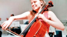 The golden-haired princess of cello