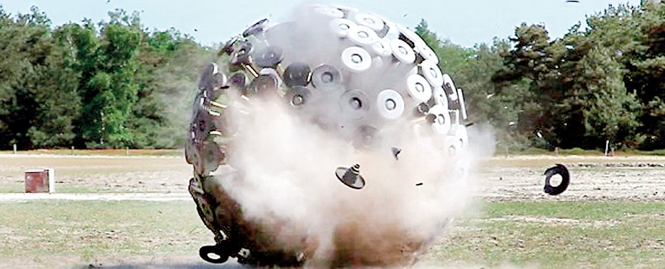 Can this giant ball rid  the world of landmines?