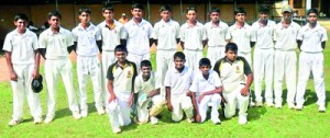 The Mahanama College under 15 Division One team