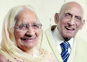 Karam and Katari Chand have been married for 87 years