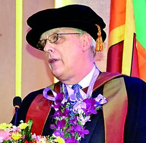 Prof Derek Godfrey, Deputy Vice Chancellor of Buckinghamshire New University, Addresses the gathering