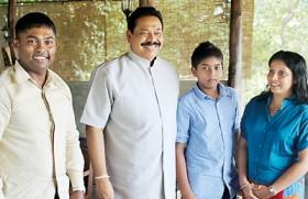 President visits 'Kalu's Hideaway'