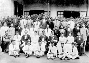 From the Ananda College archives: A staff photo from the early 1920s