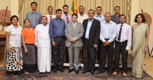 The delegation with High Commissioner Dr Chris Nonis