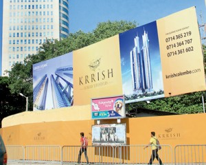 The Krrish billboard canvassing clients