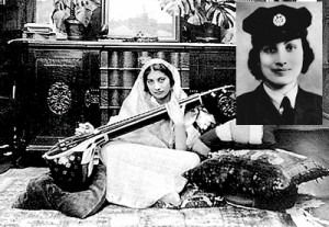 Noor, above and inset in uniform, had a degree in child psychology, played sitar, and wrote short stories for children