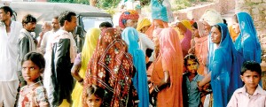 Riot of colour: Crowded city streets and people proud of their heritage