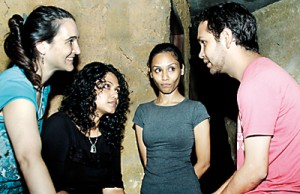 Meeting of minds: (l-r) Sally, Ruhanie, Tracy and Jake