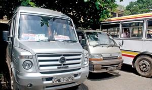 School transport services will be soon be regulated. Photos:  Nissanka Meegoda