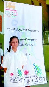 Sumudu Ratnakumari the Olympic quiz  winner
