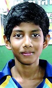 Udaya Ranasinghe Player of the  tournament-Boys